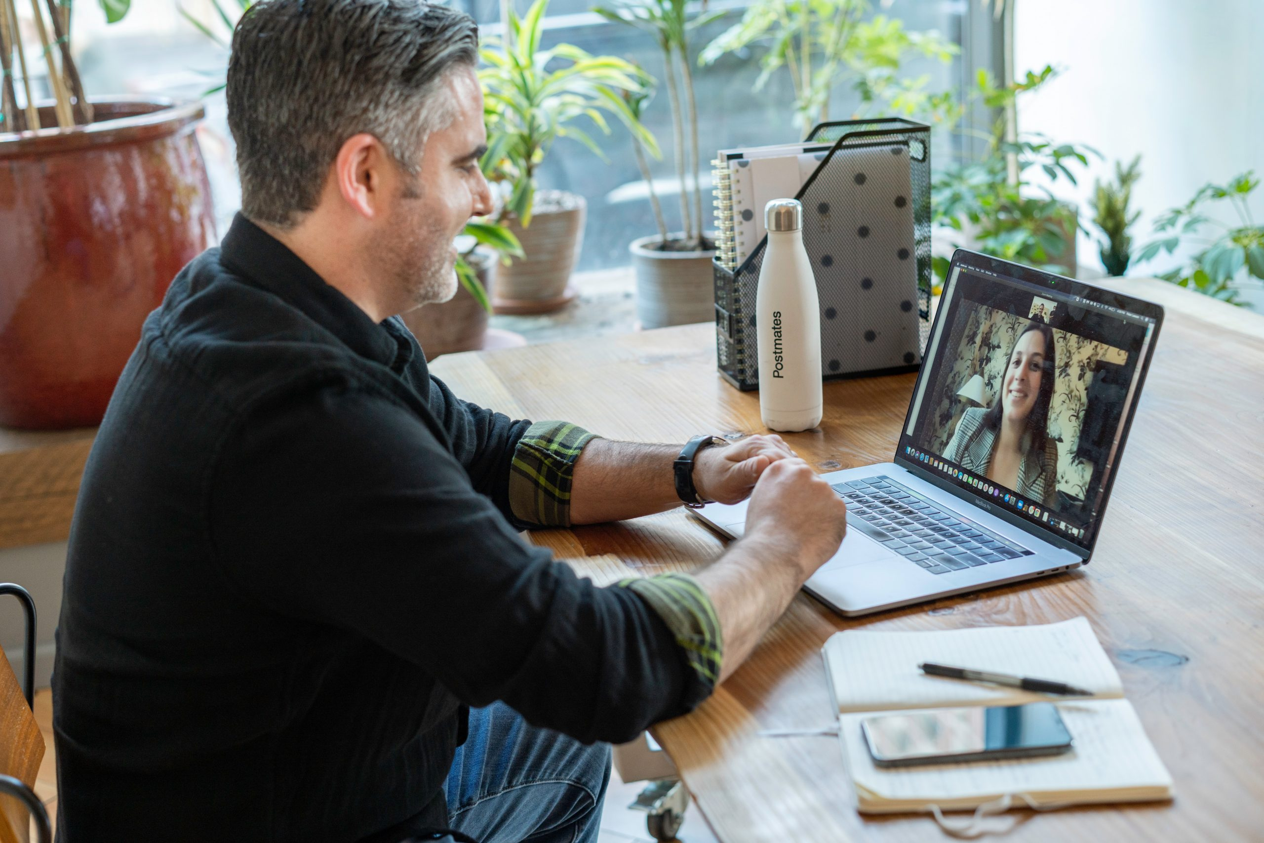 Meeting with a doctor in a telehealth appointment